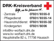 Anzeige Deutsches Rotes Kreuz
