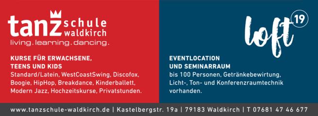 Anzeige Tanzschule Waldkirch