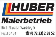 Anzeige Huber Horst