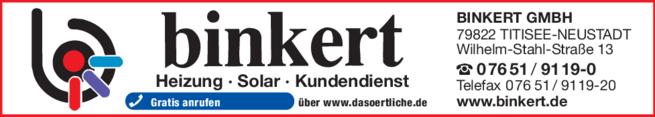 Anzeige Binkert GmbH