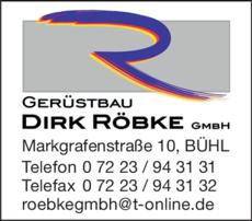 Anzeige Röbke Dirk GmbH