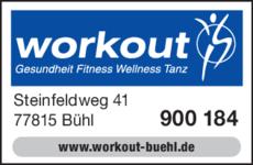 Anzeige Workout