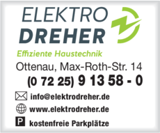 Anzeige Elektro Dreher GmbH