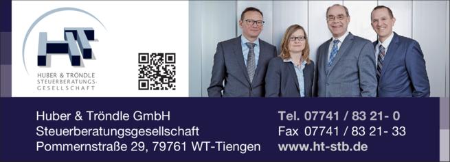 Anzeige Huber & Tröndle GmbH