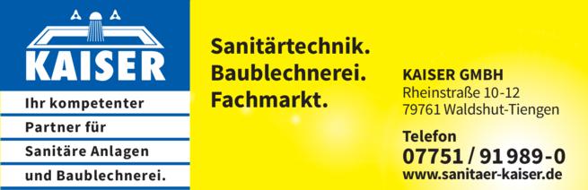 Anzeige Kaiser GmbH