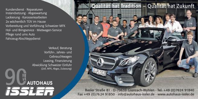 Anzeige Issler GmbH Mercedes-Benz u. Opel