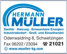 Anzeige Müller Hermann GmbH & Co.KG