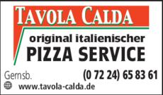 Anzeige TAVOLA CALDA