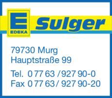 Anzeige Edeka, Aktiv-Markt Sulger