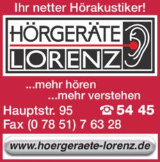 Anzeige Hörgeräte Lorenz