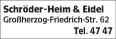 Anzeige Schröder-Heim & Eidel