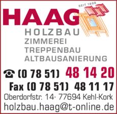 Anzeige Haag