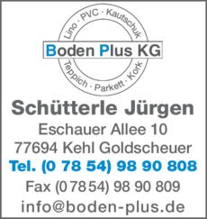 Anzeige Bodenbeläge Schütterle Jürgen
