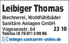 Anzeige Leibiger Thomas GmbH