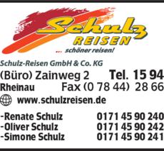 Anzeige Schulz Reisen GmbH & Co. KG