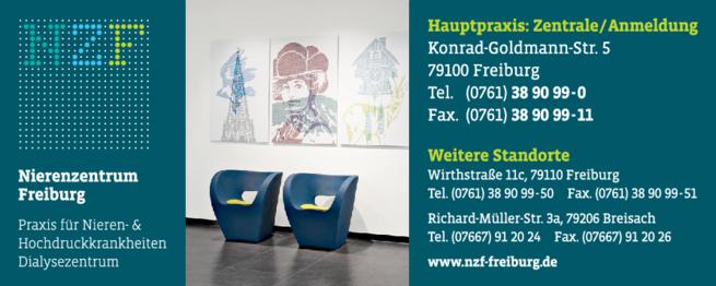 Anzeige Nierenzentrum Freiburg NZF