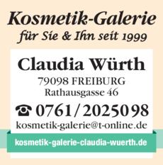 Anzeige Kosmetik-Galerie Für Sie & Ihn