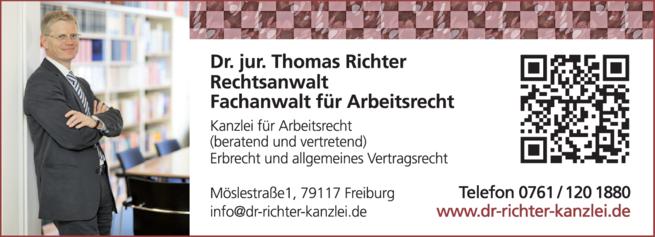 Anzeige Richter Thomas Dr.jur.