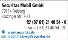 Anzeige Securitas Mobil GmbH