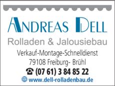 Anzeige Dell Andreas Rolladen & Jalousiebau