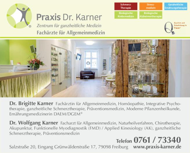 Anzeige Karner Brigitte und Wolfgang Dres.med.