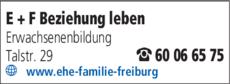 Anzeige EHE + FAMILIE Beziehung + Leben