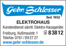 Anzeige Schlosser Gebr.