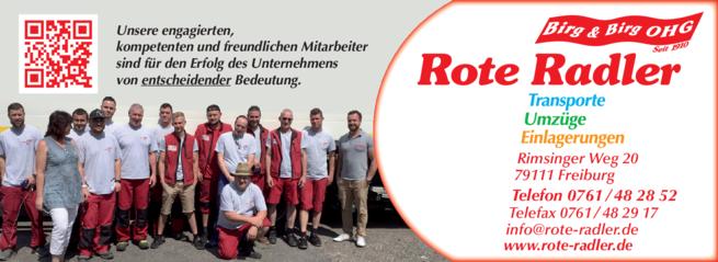 Anzeige Rote Radler