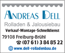 Anzeige Rollladen Dell Andreas