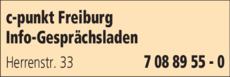 Anzeige c-punkt Freiburg Info-Gesprächsladen
