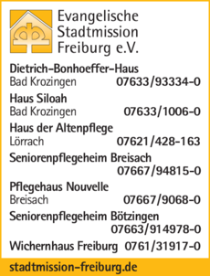 Anzeige Evangelische Stadtmission Frbg. e.V.