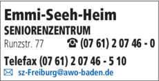 Anzeige Emmi-Seeh-Heim