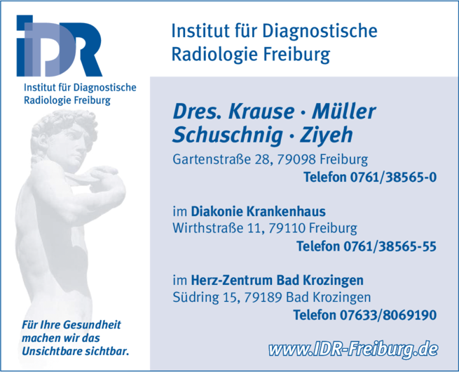 Anzeige IDR Institut für Diagnostische Radiologie