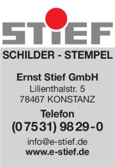 Anzeige Stief Ernst GmbH