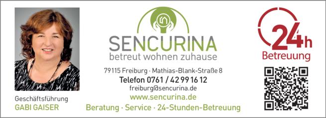 Anzeige SENCURINA Freiburg