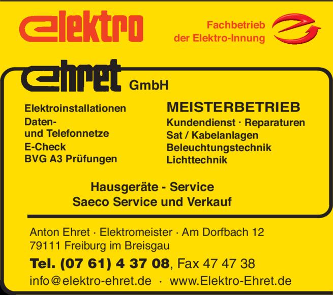 Anzeige Ehret GmbH