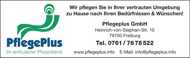 Anzeige Pflegeplus GmbH