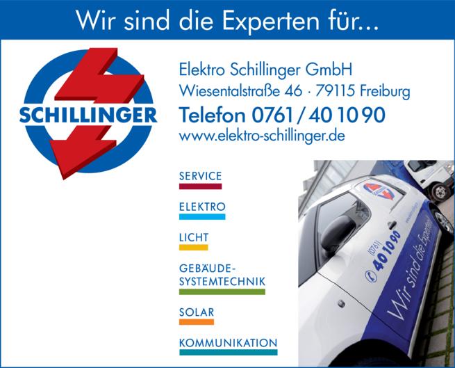Anzeige Elektro Schillinger GmbH