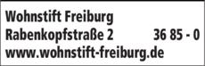 Anzeige Wohnstift Freiburg