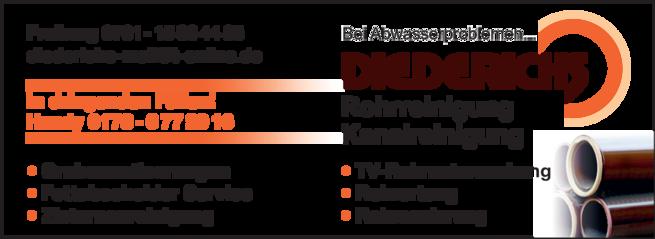 Anzeige Diederichs Rohrreinigung