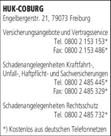 Anzeige HUK-COBURG Schadenangelegenheiten