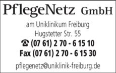 Anzeige PflegeNetz GmbH