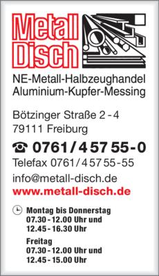 Anzeige Metall-Disch GmbH & Co.KG