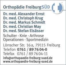 Anzeige FreiburgSÜD Orthopädie