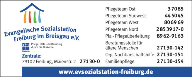 Anzeige Evangelische Sozialstation