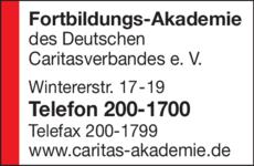 Anzeige Fortbildungs-Akademie des Deutschen Caritasverbandes e.V.