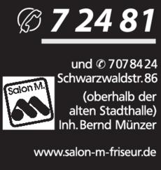 Anzeige Friseur Münzer