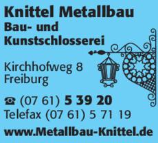 Anzeige Knittel Metallbau