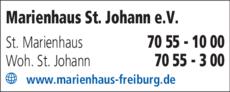 Anzeige Marienhaus St. Johann e.V.