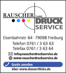 Anzeige Rauscher Druckservice